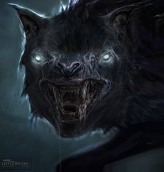 Warg- Norse myth: a term used to refer to the wolf Fenrir and his children. They were enormous fierce wolves. Mythological Creatures, Fantasy Creatures, Mythical Creatures, Tolkien, Gothic Drawings, Hobbit An Unexpected Journey, Hobbit Films, Beast Creature, Creature Feature