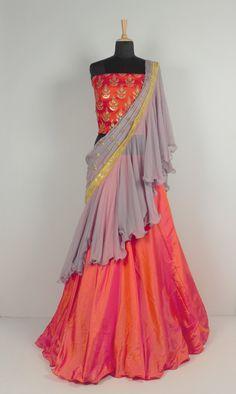 Lehenga Choli Latest, Silk Lehenga, Saree, Lahenga, Silk Satin, Bollywood, Photoshoot, Orange, How To Wear