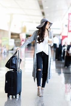 Dear Stylist: A long & comfy cardigan would be perfect for the airport & travel