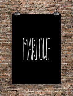 Marlowe - handwritten.