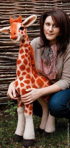 Игрушки животные, ручной работы. Ярмарка Мастеров - ручная работа. Купить жирафчик Юджин Эфф. Handmade. Африка, шерсть, иглы