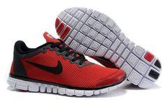Nike Free Run 3.0 V2 Zapatillas para Hombre Universidad Rojas/Negras http://www.esnikerun.com/