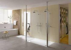Diseño de Baño con Ducha grande . Una de las dudas más comunes a la hora de plantearse la reforma de un baño es: bañera sí o bañera no. Para...
