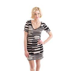 Quinn Stripe Dress Black White now featured on Fab.