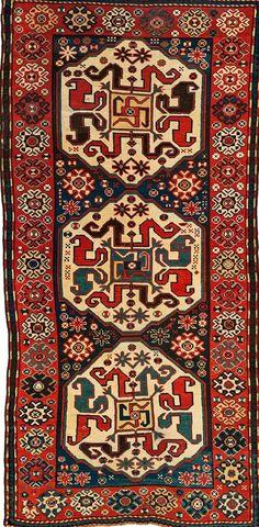 Caucasian Karabagh cloud band rug, 263 cm x 125 cm., Ca. 1900, Lempertz
