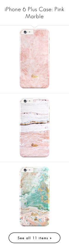 """iPhone 6 Plus Case: Pink Marble"" by palettoshop ❤ liked on Polyvore featuring giftguide, iphonecase, holidays, marble, iphone6plus, accessories, tech accessories, phones, fillers and iphone case"