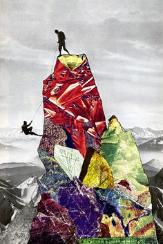 """Eugenia Loli's vibrant vintage collages . """"The Impossibilities of my Absolute on your Unmendable Truth"""" Collages, Collage Artists, Eugenia Loli, Kunst Online, Photocollage, Pics Art, Art Plastique, Digital Collage, Oeuvre D'art"""