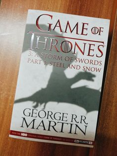 A Storm Of Swords - Steel And Snow #GameOfThrones #Books