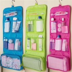 Travel Toiletry Bag Polyester Organizer Cosmetic Case Makeup Hanging Bag Y Cosmetic & Toiletry Bags, Travel Cosmetic Bags, Travel Toiletries, Cosmetic Case, Travel Bags, Travel Toiletry Bag, Makeup Storage Case, Bag Storage, Wash Bags