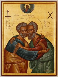 Icon of Sts. Peter and Andrew that Ecumenical Patriarch Athenagoras I gave to Pope Paul VI.