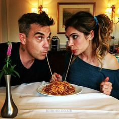 Robbie and Ayda Lady and the Tramp spoof