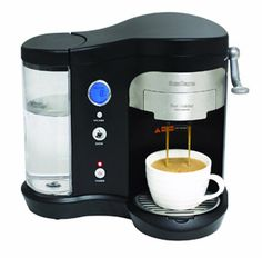 The SunCana single-serve pod brewer makes a personalized fresh-brewed cup of coffee less than a minute flat. Designed for maximum compatibility with a wide variety of coffee pods and tea pods.