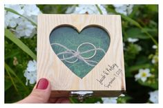 Items similar to Personalized ring bearer box with a glass lid, wedding box, wedding ring box,ring bearer pillow alternative ,ring holder on Etsy Personalised Wooden Box, Personalized Rings, Wedding Ring Box, Wedding Boxes, Ring Bearer Box, Wooden Boxes, Alternative, Unique Jewelry, Glass
