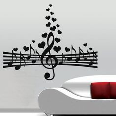 Love For Music Wall Decal by ColorfulWalls on Etsy Music Notes Art, Music Wall Art, Music Artwork, Music Decor, Metal Wall Decor, Metal Wall Art, Wall Art Designs, Wall Design, Paris Crafts