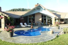 Back side of home, pool view