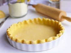 This is the one pie crust recipe you absolutely need! This Easy Vodka Pie Crust is so easy to work with and bakes up flakey. Vodka Pie Crust, Lard Pie Crust, Food Processor Pie Crust, Food Processor Recipes, Just Desserts, Delicious Desserts, Yummy Food, Sweet Recipes, Real Food Recipes