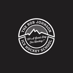 Official Bob Johnson Ice Hockey School Car Decal - 4x4 Circle Vinyl Die Cut. 2 options - Black with White lettering or Transparent with White Lettering $5 - It's a Great Day For Hockey - Ice Hockey Summer Camp in Vail and Aspen Colorado