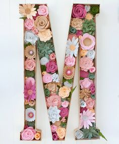 Hey, I found this really awesome Etsy listing at https://www.etsy.com/listing/225970927/large-felt-floral-letter-24-inches-tall