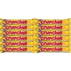 Cadbury Crunchie Chocolate Bars, 12-Count, (cadbury, british, candy, english, honeycomb, milk chocolate, australian, brittish, chocolate, irish)