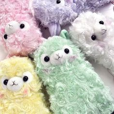 Pastel plush alpaca cuties!