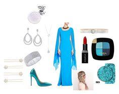 """Elsa"" by anarnubar on Polyvore featuring moda, St. John, Smashbox, L'Oréal Paris ve Anne Klein"