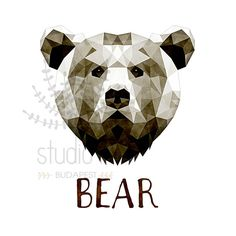 $7 download Bear Print Bear Art Bear Wall Art Geometric by StudioInBudapest