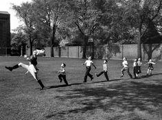 Une parade improvisée à l'université Ann Arbor du Michigan en 1951.