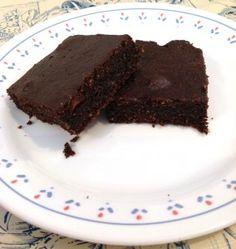 Brownie de alfarroba vegetariano