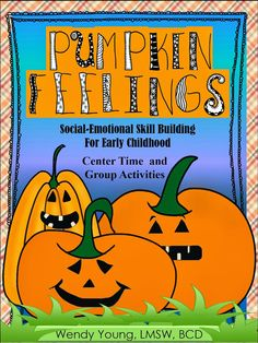 It's that time of year again! #Pumpkin #Feelings for use at school, home, counseling and more! #schoolcounseling #therapy #playtherapy
