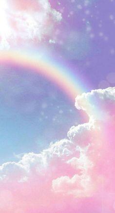 Wallpaper Pastel, Glitter Wallpaper Iphone, Cloud Wallpaper, Rainbow Wallpaper, Iphone Background Wallpaper, Aesthetic Pastel Wallpaper, Kawaii Wallpaper, Tumblr Wallpaper, Disney Wallpaper