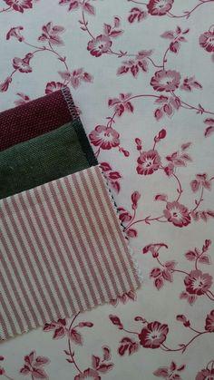 Toile de Rosa-Red, Ticino-Granato, Linoteca-Olivia & Little Stripe-Red