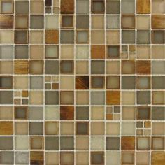 M S International Inc Manhattan Blend Glass Mesh Mounted Mosaic Wall Tile Smot