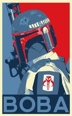 Awesome Star Wars print of Boba Fett