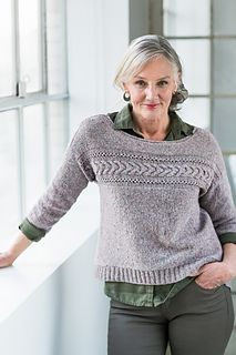 Natsumi pullover pattern by Jared Flood.  $8 pattern. I don't think it would flatter my plus size figure at all, but I would like to eventually try it.  In any event, it would be cool to try and reduce it down for a doll!