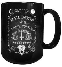 Image of Hail Satan And Drink Coffee - Coffee Mug