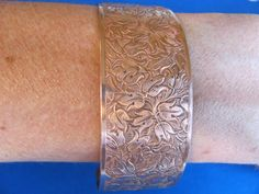 SALE Beautiful vintage floral solid copper by BonniesGreatFinds, $25.00