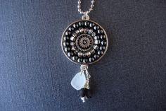 Handmade Artisan Mosaic Pendant by CrookedMoonMosaics on Etsy 48.00