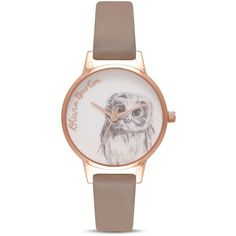 Olivia Burton Woodland Animals Watch, 30mm ($115) ❤ liked on Polyvore featuring jewelry, watches, olivia burton watches, white wrist watch, white jewelry, animal watches and white watches