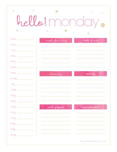 Hello Monday! Cute! Pink!