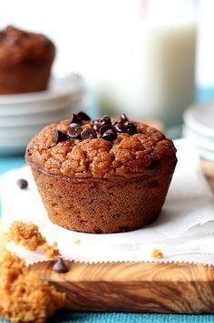 Grain Free Pumpkin Muffins make a healthy fall snack!