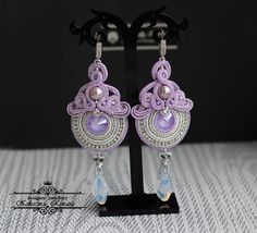 VK is the largest European social network with more than 100 million active users. Soutache Jewelry, Elsa, Crochet Earrings, Drop Earrings, Jewels, Bridal, Handmade, Design, Necklaces