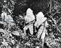 Chinese soldiers who fight alongside the Allies against Japan in the jungles of Burma, 1943