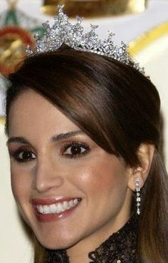Tiara Mania: Diamond Tiara worn by Queen Rania of Jordan