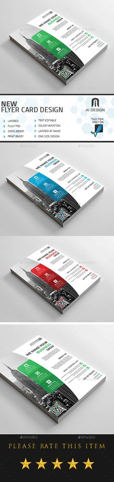Customizable professional template for a business flyer. Psd Flyer Templates, Business Flyer Templates, Banner Design, Flyer Design, Business Poster, Marketing Flyers, Flyer Layout, Information Graphics, Art Design