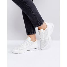 Nike Beautiful Power Air Max Jewell Trainers (€135) ❤ liked on Polyvore featuring shoes, sneakers, cream, lacing sneakers, jeweled shoes, laced up shoes, cream shoes and cushioned shoes