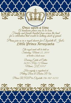 Little Prince Baby Shower Invitation-Digital by loveandpaperie