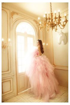 Layers of pink tulle for a princess style