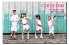 Sugar Bee Crafts: Color Run Gang: Super adorable set of outfits for a kids color run!
