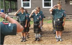 Scouts in the MacLaren kilt.    IMG5320a