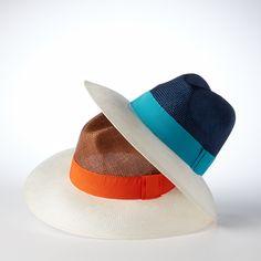 Helene Berman colour block summer hat